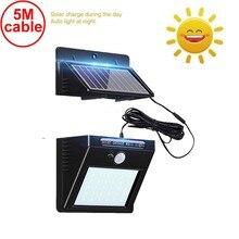 30 светодиодный 500lm солнечный свет сплит крепление PIR датчик движения в помещении ip65