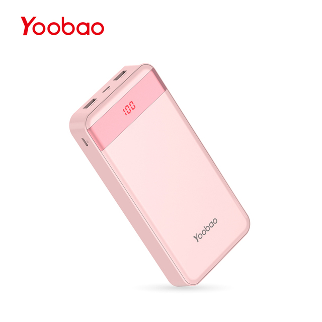 Yoobao 20000mAh Portable Charger Dual USB LCD Powerbank For iPhone Samsung Huawei Xiaomi Google Power bank External Battery Pack