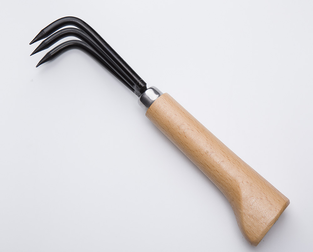 Garden Tools Bonsai tools hook JTG-01 wooden handle carbon steel hook robust very firm and durable made by Tian Bonsai
