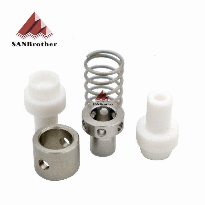 3D impresora Ultimaker 2 + UM2 + extendida extremo caliente Olsson bloque aislador acoplador de PTFE acoplador piezas 1,75/3mm filamento de sistema