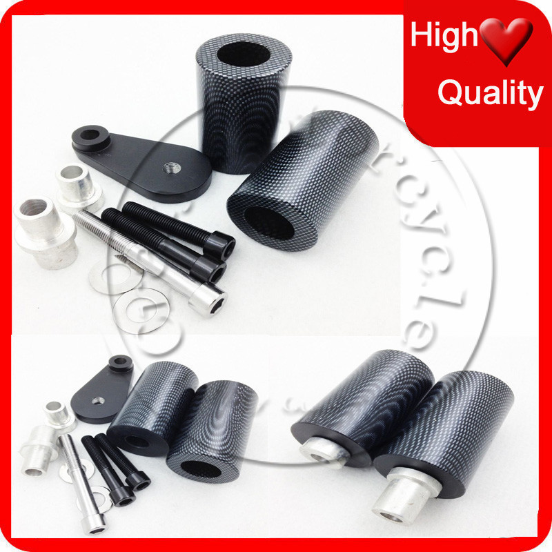 For Yamaha YZF-R6 YZFR6 2003 2004 2005 YZF-R6S YZFR6S 2006 2007 2008 2009 Carbon No Cut Frame Sliders crash Falling protection ...