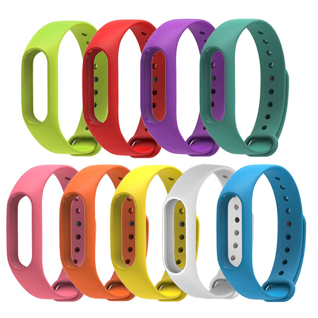 2018 Newest Xiaomi MiBand 2 Accessories For My Silicone Band 2 Miband Bracelet Strap 2 Colorful Strap Wristband Intelligent Band