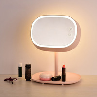 Makeup mirror led desk lamp desktop night light cosmetic mirror lip makeup mirror foundation beauty mirror birthday gift light