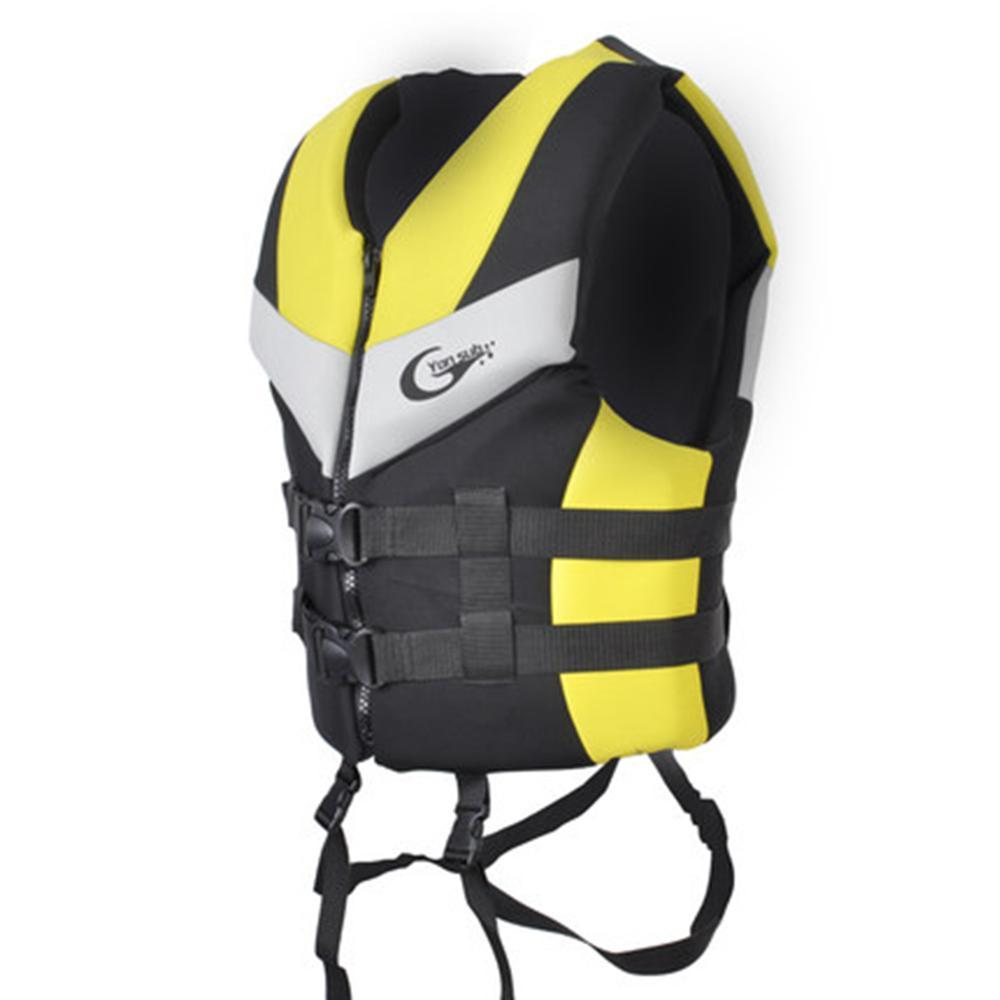 YONSUB Professional Adult Child Life Vest Neoprene Waterproof Rescue Men Women Lifejacket For Fishing Drifting Swimming