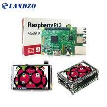 Raspberry Pi 3 Modèle B Conseil + 3.5 «LCD Écran Tactile avec Stylet + Acrylique Cas pour Raspberry Pi 3 kit Livraison Gratuite