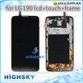 100% testado para LG L90 D405 lcd com toque + montagem de quadro de 1 peça