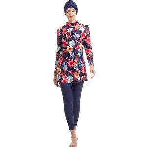 2019 New Burkinis Muslim Swimwear Islamic Swimsuits Women Girls Plus Size Full Cover Modest Islamic Swimming Suits(China)