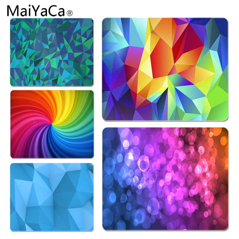 MaiYaCa Polygon And Lights Abstract Durable Rubber Mouse Mat Pad Size for 7.08*8.65inch 9.83*11.4inch Gaming Mousepads