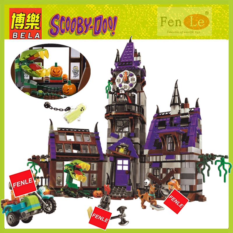 IN STOCK 10432 Scooby Doo Mysterious Ghost House 860pcs Building Block Toys Compatible 75904 Blocks For