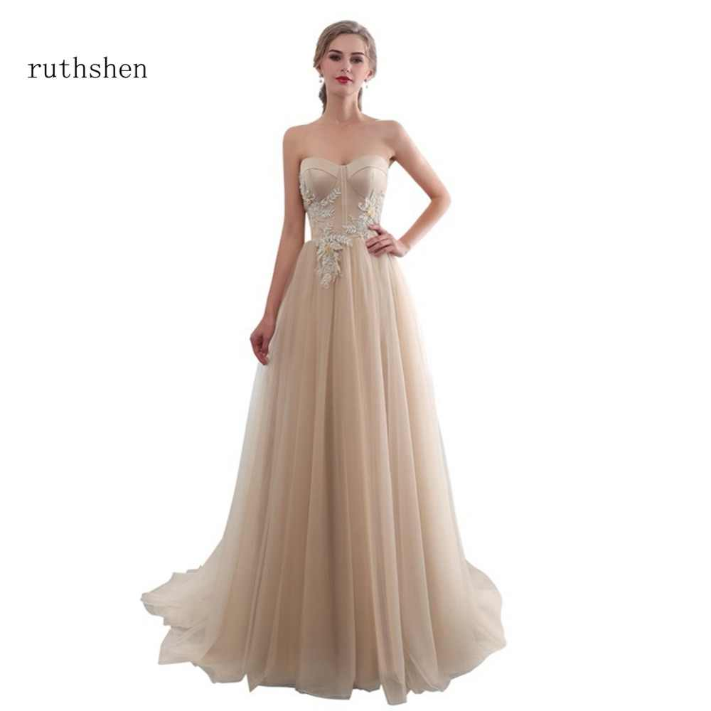 fd43c72987 Detail Feedback Questions about ruthshen Long A line Evening Dress ...
