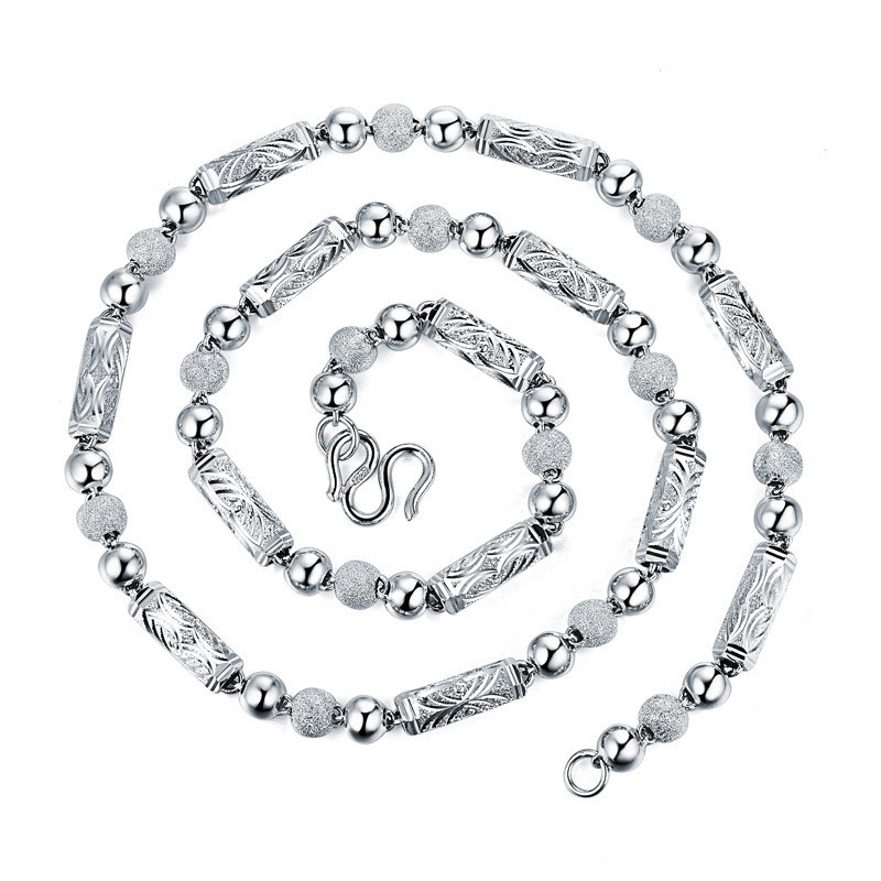 Charm Men's Necklace 100% 925 Sterling Silver Necklace Silver Chain Base Chain