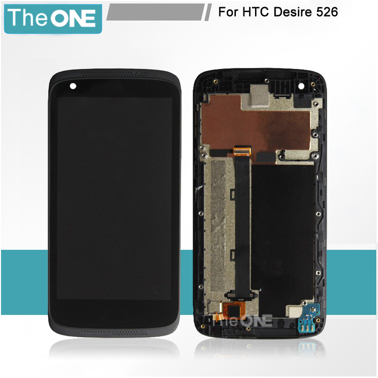 LCD Display + digitizer touch Screen With Assemblely For HTC Desire 526 526G 526H dual card +frame Free shipping,1pcs/lot