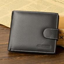 Baellerry Men Wallets Genuine Leather Male Wallet