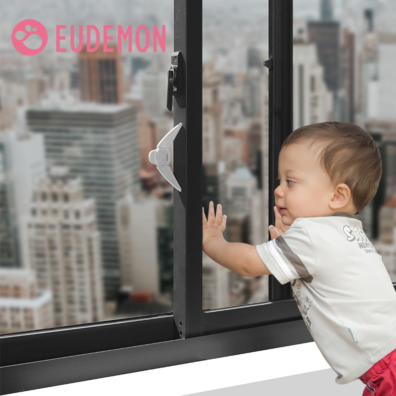 EUDEMON Children Safety High Quality Child Safe Locks Easy Kids Baby Safety Security Sliding Window Locks For Push-pull Door