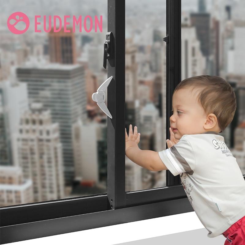 EUDEMON Children Safety High Quality Child Safe Locks Easy Kids Baby Safety Security Sliding Window Locks For Push-pull Door