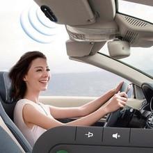 цена на Bluetooth Handsfree Car Kit Wireless Bluetooth Speaker Phone MP3 Music Player Sun Visor Clip Speakerphone with Car Charger