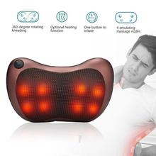 8 Head Vehicle-mounted Household Shoulder Neck Waist Back Cervical Massager Whole Body Heating Shiatsu kneading Massage Pillow electric kneading hot compressor cervical traction massager whole body heating massage household multifunctional neck massager