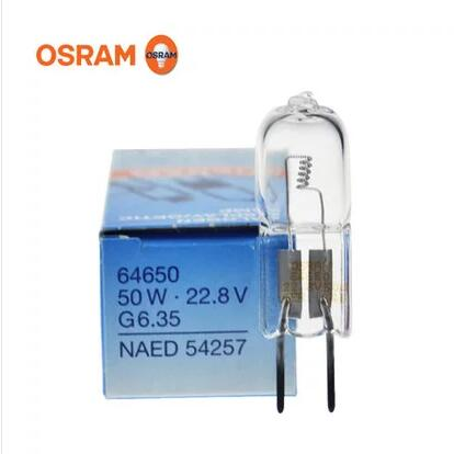 ORIGINAL OSRAM 64650 50W 22.8V G6.35 HALOGEN DISPLAY OPTIC LAMP