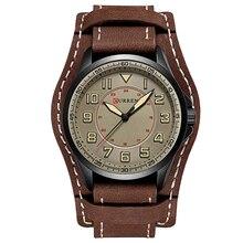 CURREN Лидер продаж спортивные для мужчин часы кожаный ремешок мужской часы Популярные кварцевые наручные Relogio Masculino horloges mannen saat