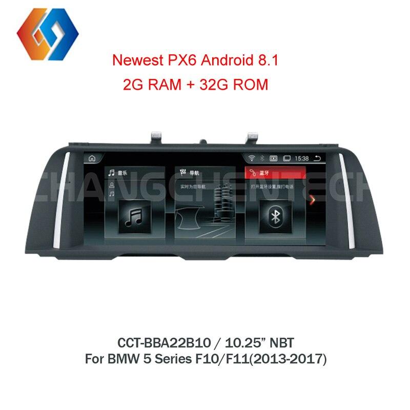 Pour BMW 5 Série F10 F11 2013-2016 NBT Écran Tactile Stéréo 1 Din Android 8.1 Voiture Multimédia GPS navigation BT Radio WiFi Unité 10