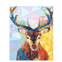 Frameless Elk Animals DIY Painting By Numbers Wall Art Picture Acrylic Oil For Home Decoration Cool Dog Decor