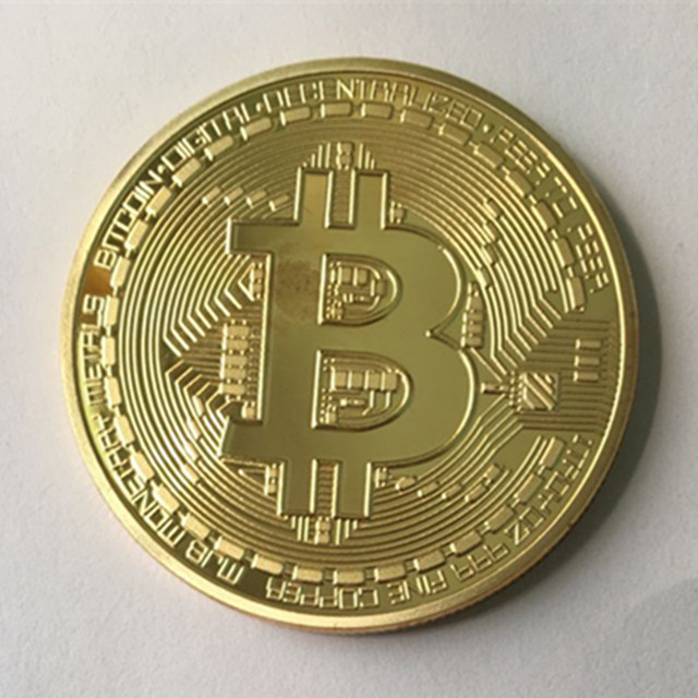 50 Pcs The Classic BTC Bitcoin 24K Real Gold Plated Badge 40 Mm Internet Theme Souvenir