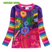 купить Children's T-shirt 2019 spring new cartoon cotton children's clothes girls long-sleeved T-shirt baby print shirt girls T-shirt по цене 447.45 рублей