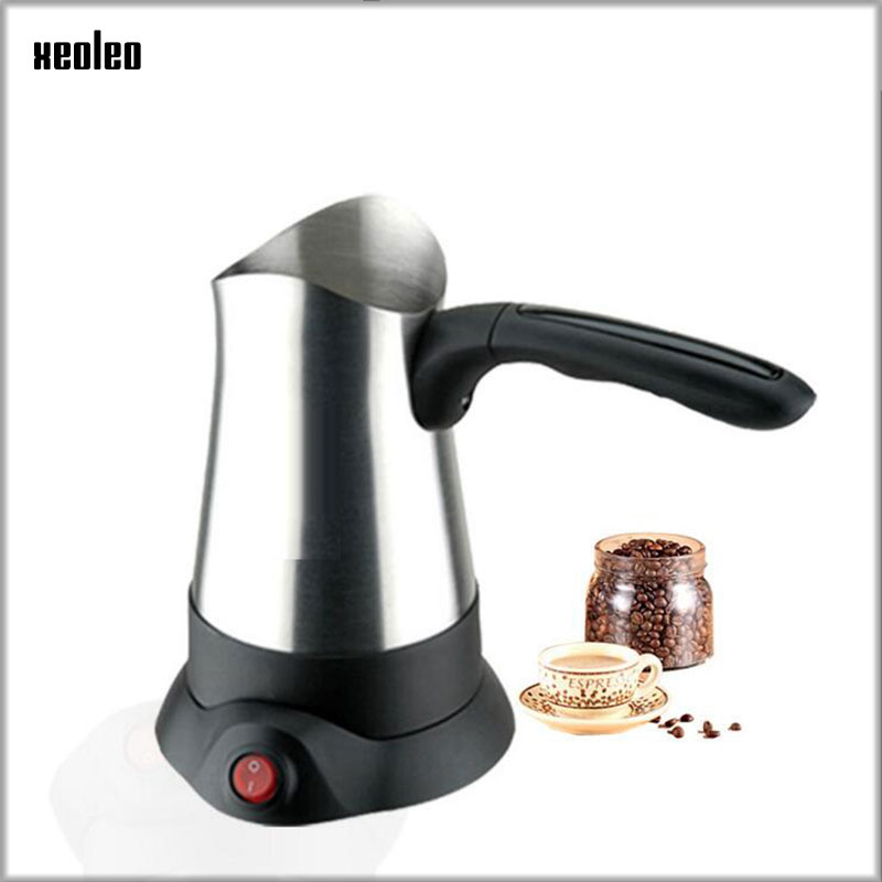 XEOLEO Electric Coffee pot 300ml Pod Coffee maker 800W Stainless steel Turkey Coffee machine Cafeteira Expresso Coffee Kettle coffee milk latte frothing jug kitchen expresso stainless steel craft 300ml
