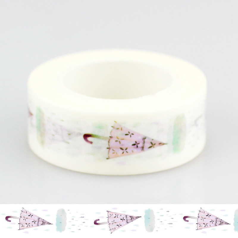 1 PCS 10m DIY Japanese Paper Washi Tape Umbrella Cute Masking Tapes Adhesive Tapes Stickers Decorative Stationery Tape 1.5cm*10m