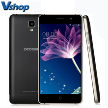 Original Doogee MTK6570 X10 Smartphone 3G Android 6.0 Dual Core Celular teléfono RAM 512 M ROM 8 GB 5MP 3360 mAh 5.0 pulgadas teléfonos Móviles