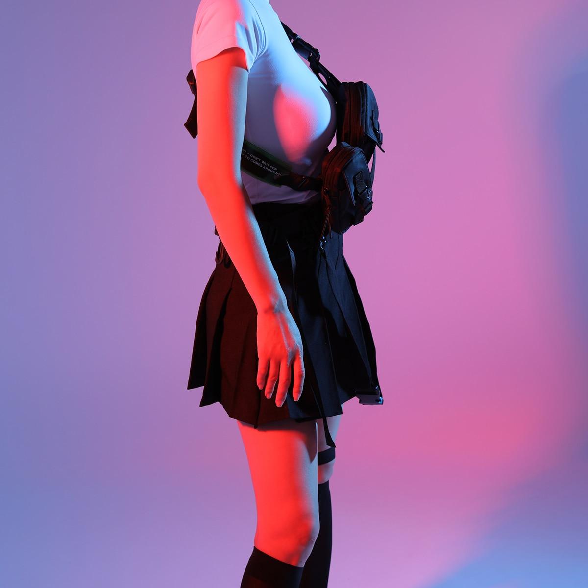 peito tático hip saco moda streetwear pacote