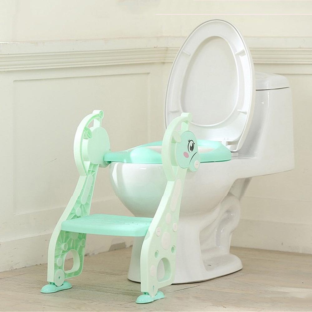 Children Portable Deer Toilet Ring Baby Outdoor Travel Potty Folding Chair Adjustable Ladder Potty Training Seats U11@Z
