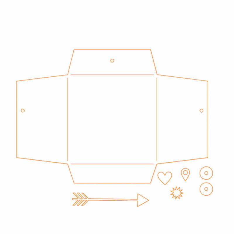 GJCrafts Envelope de Papel Cortado Corte De Metal Morre Novo 2019 para Embarcações de Seta Fazer Do Cartão DIY Embossing Morre Scrapbooking Decor