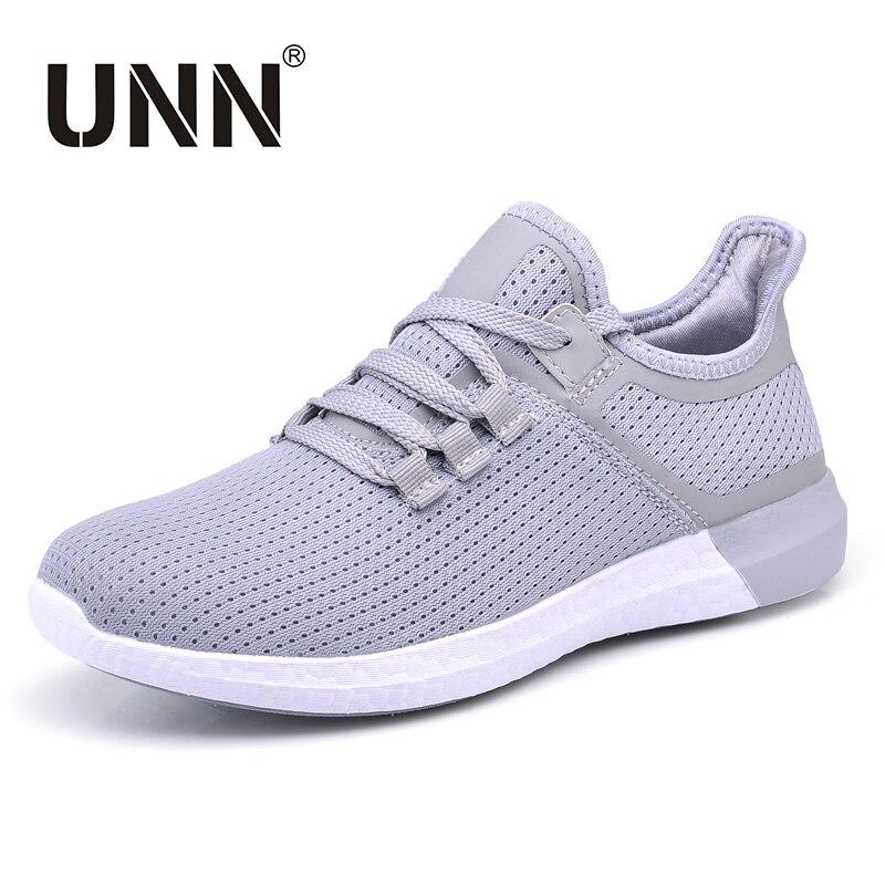 f2164933c1c70 UNN Unisex Running Shoes Men New Style Breathable Mesh Sneakers Men Black Light  Sport Outdoor Women ...