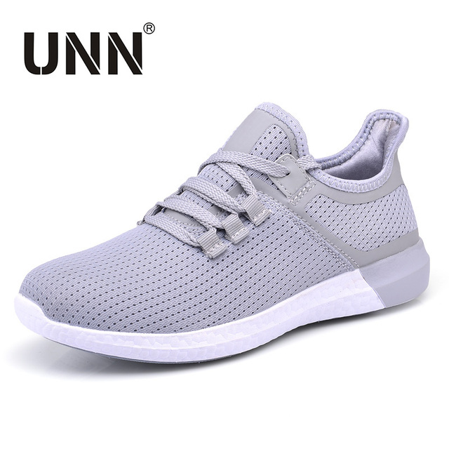UNN Unisex Running Shoes Men New Style Breathable Mesh Sneakers Men Light Sport Outdoor Women Shoes Black Size EU 35-44