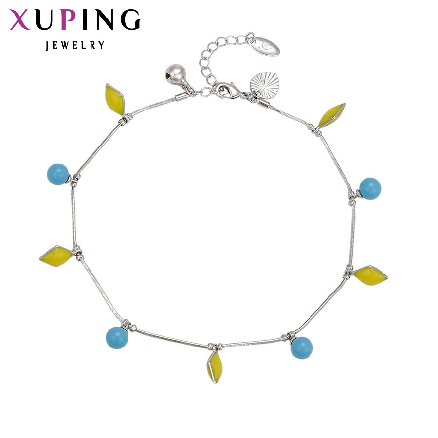 Xuping Anklet Rhodium Color...