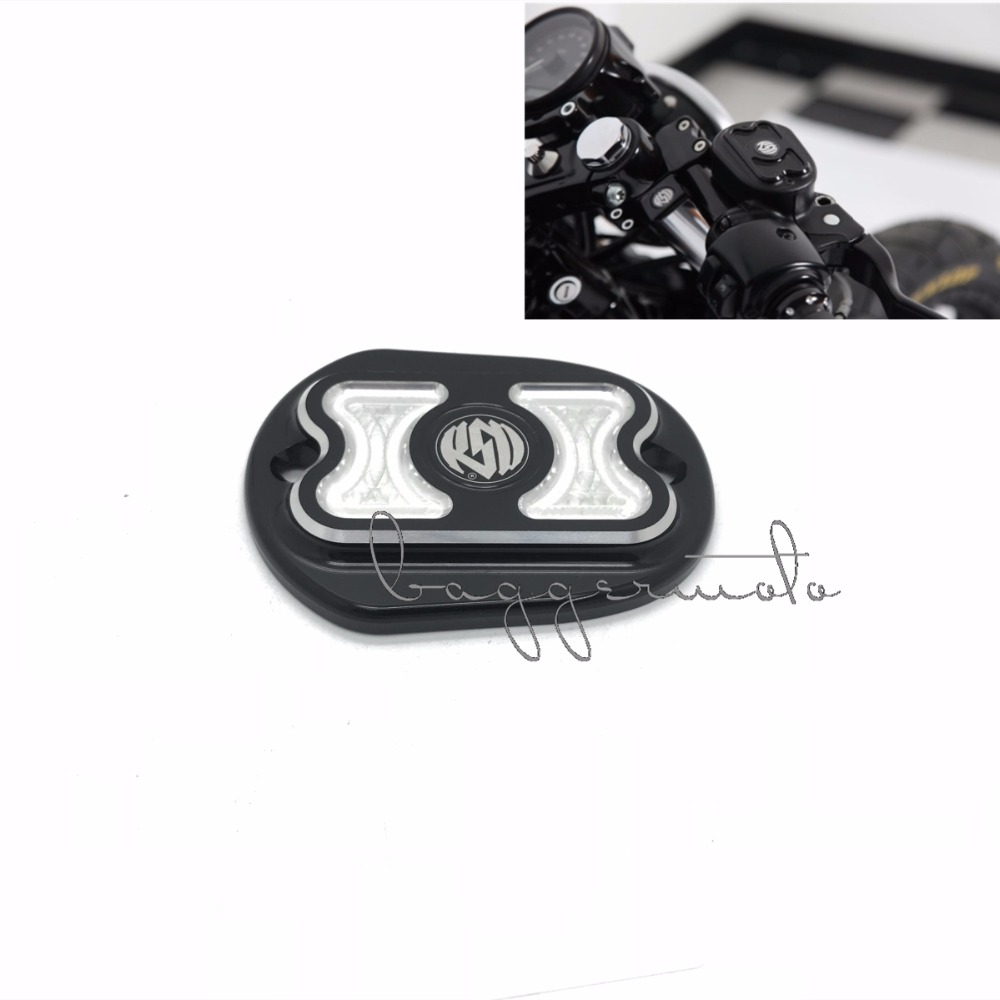 Black Motorcycle Parts CNC Front Brake Reservoir Master Cylinder Cover Fit For Harley XL883 1200 Sportster