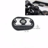 Black Motorcycle Parts CNC Front Brake Reservoir Master Cylinder Cover Fit For Harley XL883 1200 Sportster