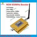 Função display LCD 980 CDMA 800 mhz de alto ganho 70dB CDMA 850 Mhz mobile phone signal booster, sinal GSM amplificador repetidor cdma