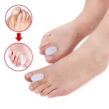 1pair Soft Silicone Toe Separators Spacer Straightener Relief Foot Bunion Pain Gel Toe Separators For Bunions Gel Bunion Guard Body Care