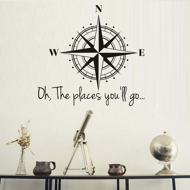 Vinyl Wall Art Decal Sticker Home Decor Oh The Places You Ll Go Compes