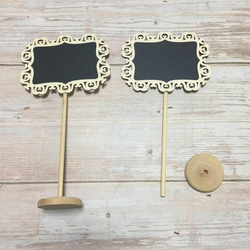 10pcs mini chalkboard signs wood chalkboard wedding place cards message board sign (9)