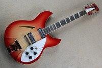 Firehawk custom red rickenback 360 semi hollow body 12 strings jazz electric guitar ricken guitar