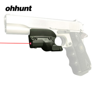 Ohhunt Tactical Hunting 5Mw Rode Laser Sight Scope Red Dot Zicht Voor 1911 Pistool Airsoft Met Laterale Groeven(China)