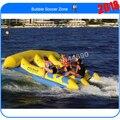 Envío gratis 4 * 3 m pez volador inflable banana boat barco venta
