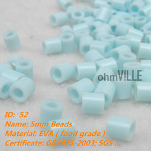 2016 Sale Belenes Navidad 5mm Perler Beads ~ Baby Blue Id:52 Hama Fused Educational Toys Guaranteed 100% Quality + Free Shipping(China)
