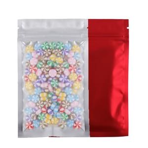 Image 4 - Полупрозрачная матовая сумка на молнии разных размеров, прозрачная фронтальная теплоизоляционная фольга, майларовые сумки для хранения на молнии с вырезами