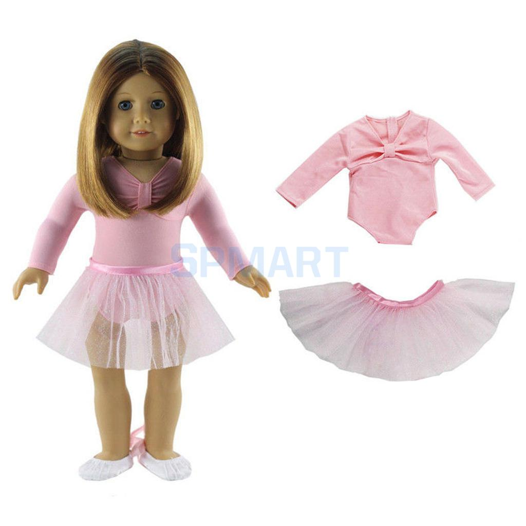 Skinny Ballet Dance Set Skirt Dress Outfit Clothes for 18 inch American Girl/Our Generation/My Life/Journey Doll skinny lacework slit bodycon dress