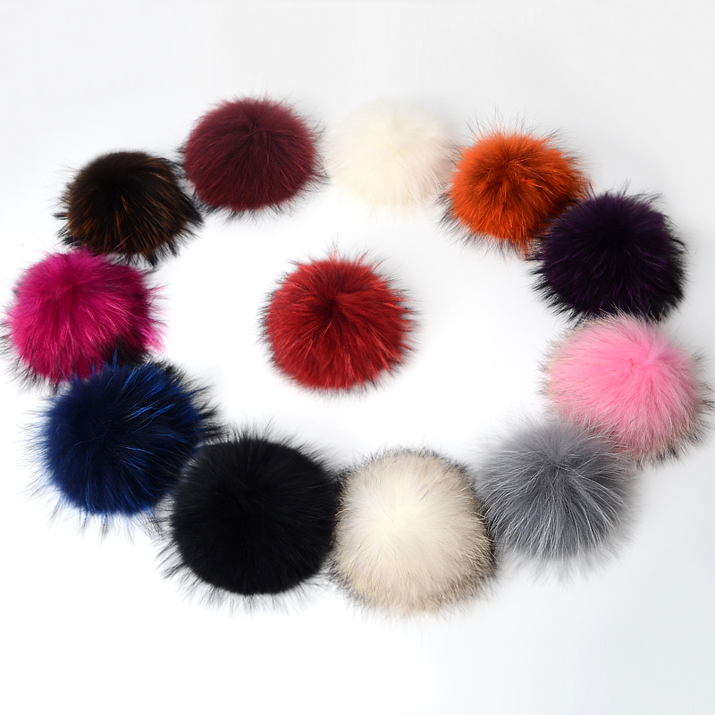 Big Size 15cm DIY Real Fox Fur Pompoms Raccoon Fur Pom Poms Balls Natural Fur Pompon For Hats Bags Shoes Scarves Accessories