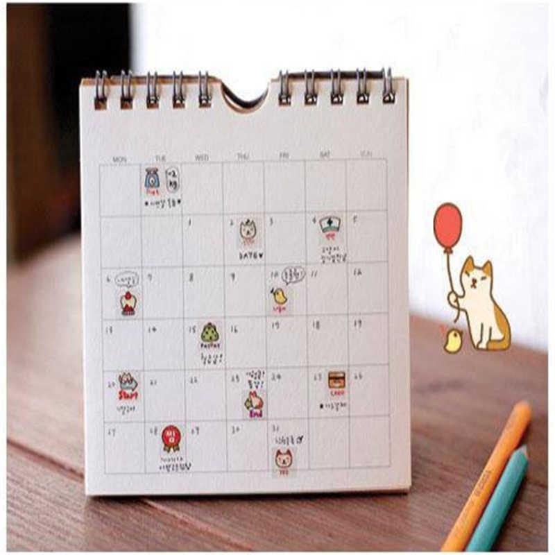 G209 Korea alat tulis lucu kucing buku harian DIY transparan stiker dekoratif masuk stationery kantor untuk siswa